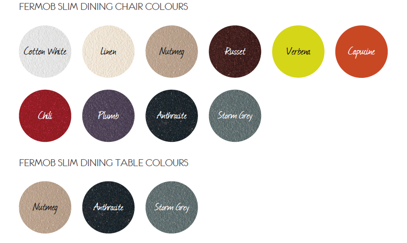 fermob slim dining colours