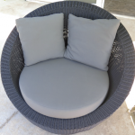 Black weave Stinson light grey cushions