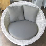 Off-white weave Stinson light grey cushions
